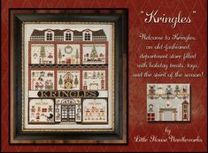 Kringles by Little House Needleworks (Stitch n Chat) Cross Stitch Kits, Counted Cross Stitch Patterns, Cross Stitch Designs, Little House Needleworks, Country Cottage Needleworks, Blackbird Designs, Pattern Paper, Craft Supplies, Etsy