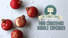 Christmas mini cupcake bauble decorations How To Cake Tutorial. In this video tutorial I show you how to make mini bauble cupcake decorations for christmas. I use fondant for this quick and easy cupcake X-mas tutorial :) Round cutters used in this video - Christmas Topper, Christmas Cake Decorations, Fondant Decorations, Christmas Minis, Christmas Baubles, Christmas Baking, Christmas Ornament, Christmas Fairy, Christmas Bells