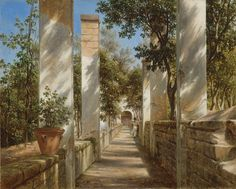 Thomas Fearnley (1802-1842): Pergola with Oranges, 1834