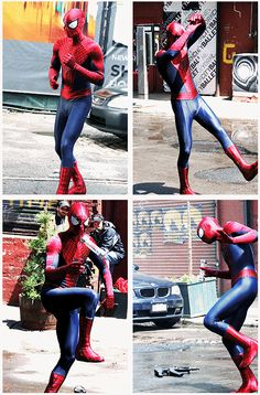 Andrew Garfield - The Amazing Spider-Man 2. I can just imagine his adorable facial expressions