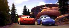 Lightning and Sally Disney Pixar Cars, Disney Movies, Walt Disney, Disney Quiz, Film Pixar, Pixar Characters, Cars Land Disneyland, Disneyland Resort, Disney Princess Paintings