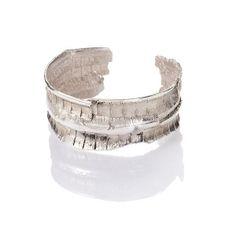 SILVER CUFF BRACELETS | BARK silver cuff bracelet | Linda Friedrich Jewelry