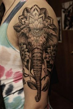 elefant tattoo ideen arm tattoos männer