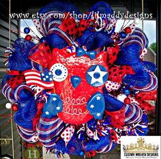 Hey, I found this really awesome Etsy listing at https://www.etsy.com/listing/154056709/sale-patriotic-owl-with-stars-wreath