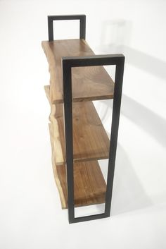 Walnut + Steel Bookcase