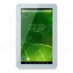 """YQ-V12 10.1"""" Android 4.4 ATM7029 Quad-Core Tablet PC w/ 1GB RAM, 8GB ROM, Bluetooth, Wi-Fi - White Price: $89.78"""
