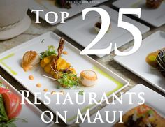 Pride of Maui's 2020 Best Maui Restaurants picks. We are proud to bring you the best of the best in Maui dining excellence! Trip To Maui, Hawaii Vacation, Vacation Villas, Hawaii Life, Aloha Hawaii, Visit Hawaii, Maui Food, Best Food In Maui, Top 10 Restaurants
