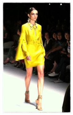 Gucci MFW SS13 - gorgeous yellow dress