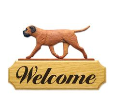 3 Coat Styles-Bullmastiff Welcome Sign. Home,Yard & Garden Dog Wood Signs Products & Gifts.