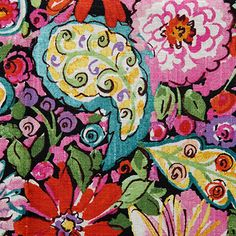 Sweet Summer Fabric is a bold floral and paisley pattern from the California Dreaming Collection by Dena Designs. This large-scale fabric features vibrant flowers and dynamic paisleys with a hand-drawn look screen printed on a soft, slubby blend of linen and rayon.