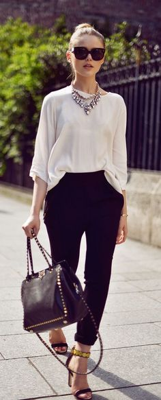 street style minimal black and white outfit