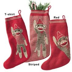 Sock Monkey Stockings, Recycled Christmas Stockings | Solutions