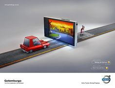 Gotemburgo Volvo: Illusion, 2 - Texting can fool you Clever Advertising, Advertising Agency, Advertising Design, Ads Creative, Creative Posters, Ad Design, Branding Design, Volvo Ad, Dont Text And Drive