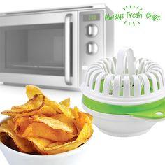 Ustensile Microonde pour Chips Always Fresh Chips Homemade Crisps, Tapas, Sliced Potatoes, Gadgets, Fresh, Baked Potato, Dark Home Decor, Kitchen Dining, Gourmet