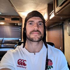 """Our adorable rugby fan is sooo happy...lol!!! ;) Comments - Henry Cavill (@henrycavill) on Instagram: """"Breaking out the colours and the lucky hat for our England Women's Rugby team (who are also called…"""""""