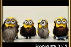 Minion Dynasty. I don't know if I need to pin this on Duck Dynasty, Giggles, or create a board for Despicable Me!