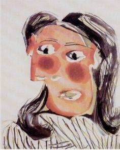 Dora Maar by Pablo Picasso | ... No. 6. Portrait de Dora Maar, 1939 - Pablo Picasso at Coskun, London