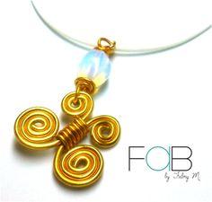 Collar Farfalle, Línea Gypsy  ventafab@gmail.com / 6252-6462