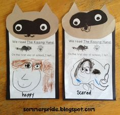 Chester Raccoon and The Kissing Hand - feelings on the first day of school - FREEBIE