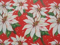 Items similar to Vintage Christmas Wrapping Paper - Traditional White Christmas Poinsettias - 1 Unused Full Sheet Gift Wrap on Etsy Vintage Christmas Wrapping Paper, Antique Christmas, Christmas Gift Wrapping, Gift Wrapping Paper, Vintage Holiday, Christmas Poinsettia, Blue Christmas, Paper Quilt, Paper Gifts