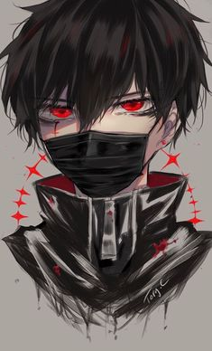 The illustration Red. , with the tags medibangpaint, illustration, digital etc. is created by Tory C . In ART street, the comment of Tory C is Random boy. Anime Demon Boy, Anime Devil, Dark Anime Guys, Cool Anime Guys, Hot Anime Boy, Anime Boys, Anime Neko, Kawaii Anime, Art Anime