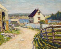 """Blanford [sic] Nova Scotia,"" Walt Kuhn, ca. 1909-1910, oil on canvas. 33 x 40"", private collection."