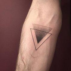 Dotwork Triangle Glyph Tattoo by Romain Kew tatuajes | Spanish tatuajes |tatuajes para mujeres | tatuajes para hombres | diseños de tatuajes http://amzn.to/28PQlav