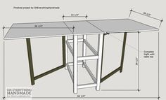 Foldable Craft Table - Finished Table
