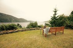 WITH VIEWS OF LOCHNESS Bench, Gardens, Benches, Garden, Bench Seat, Garden Types, Yards, Formal Gardens