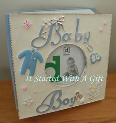 Lux Blue Baby Album 80 4X6 photos
