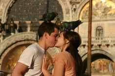 venice: they say that if a pigeon poops on you it's good luck.