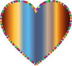 multi colored heart - Google Search