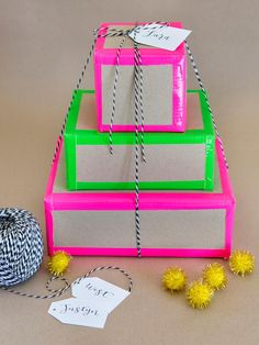 Neon Edge Gift Wrapping