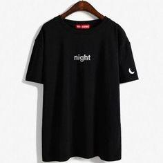 korean tops 2017 summer style tshirt women day nigh for sun moon embroidery kawaii harajuku Girlfriends lovers t shirt women