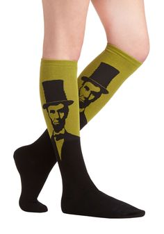 Land of Lincoln / Abe Lincoln Socks in Fern