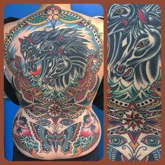 Amazing back piece by Steve Byrne