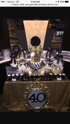 50th Party 40th Birthday Parties Gold Gatsby Forty