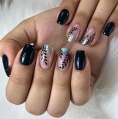 Elegant Nail Designs, Cute Nail Art Designs, Elegant Nails, Sparkly Nails, Rose Gold Nails, Love Nails, Pretty Nails, Glamour Nails, Modern Nails
