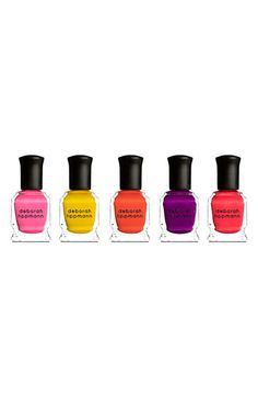 Deborah Lippmann 'Run the World (Girls)' Neon Mini Nail Lacquer Set available at Nordstrom