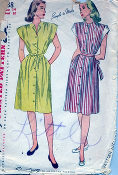 Vintage 1940's Women's Dress Pattern by AtomicRegeneration on Etsy, $11.56