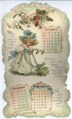 072-e LITTLE LOVES CALENDAR FOR 1901