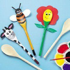 Amici cucchiai in legno per bambini (confezione da 10)