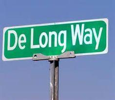 De Long Way Sign