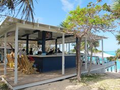 The Sandy Toes beach bar, Paradise Island, Bahamas