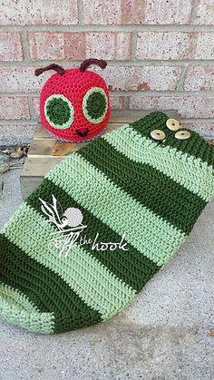 Crochet Caterpillar Hat and Cocoon Free Crochet Pattern