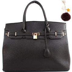 """Click Here and Buy it On Amazon.com $40.99 Amazon.com: Designer Inspired """"Hermes Birkin -Similar Style"""" Structured London Office Tote Sathcel Handbag Purse (Large Size) with Key Chain in Coffee Brown: Clothing"""