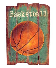 Look what I found on #zulily! 'Basketball' Wood Sign by VIP International #zulilyfinds