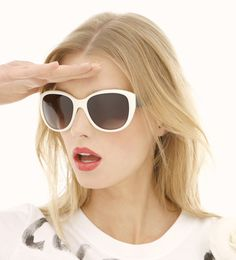 4778d0e3854ea Sigrid Agren wearing white Sunglasses Very Similar to Mine in the Coco  Chanel Rouge Lipstick Spring 2012 ad
