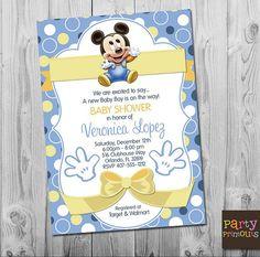 Invitaciones De Mickey Mouse Para Editar Invitaciones