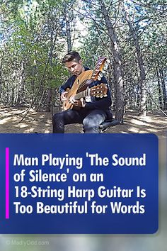 'The Sound of Silence' On An Harp Guitar Is Sheer Beauty Beyond Words Old Music, Music Tv, Music Songs, Music Videos, Art Garfunkel, Simon And Garfunkel, Mom Song, Images And Words, Guitar Solo